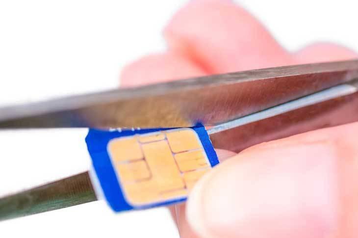 Cómo convertir una tarjeta nanoSIM en microSIM
