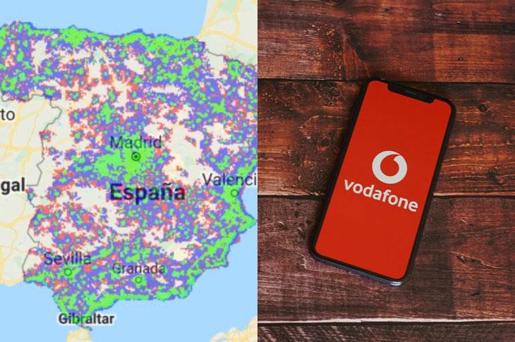 Mapa cobertura Vodafone