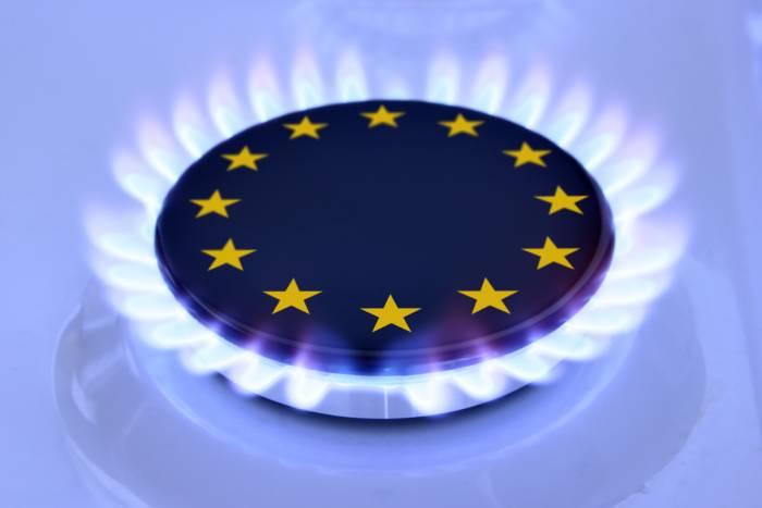 La bandera de la unión europea dibujada en un fogón