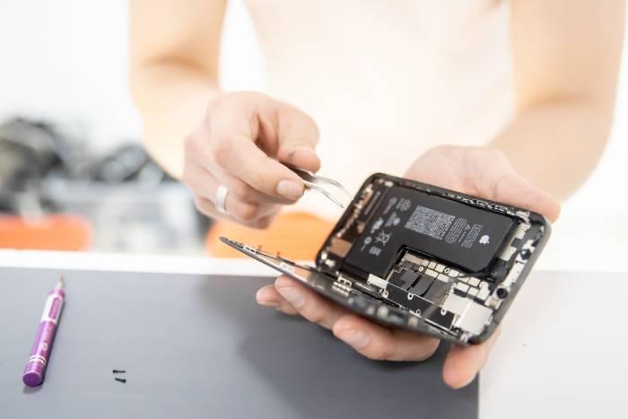 Un iphone abierto
